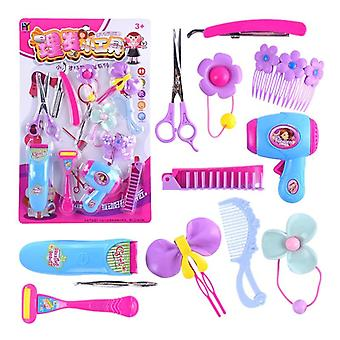 Children Pretend Barber Game Toy, Hair Dryer, Scissors, Haircut, Hair Stylist