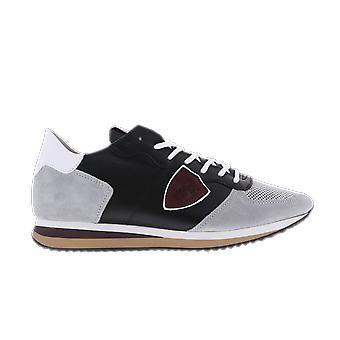 Philippe Model TRPX L UVEAU  NOIR GRIS Grey TZLUWS06WS06 shoe