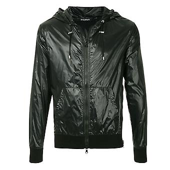 Balmain Hooded Zip Black Jacket