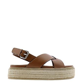 Prada 1xz7283l80f0046 Women's Brown Leather Sandals