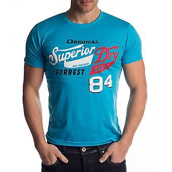 Mens t-skjorte skrive Superior elastisk crew hals skrive bomull skjorte vanlige plass (5 farger)