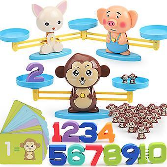 Affe digital Mathematik Balance Skala Spielzeug Montessori pädagogisches Spielzeug Balancing Skala Nummer Brettspiel Kinder lernen Spielzeug