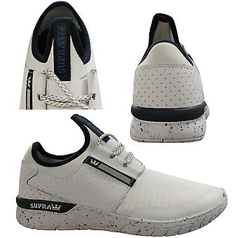 Supra Flow Run Lace Up Mens Casual Running Trainers White 008021 135 Q1