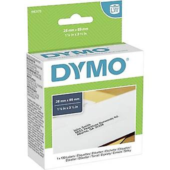 DYMO Label roll 1983173 1983173 89 x 28 mm paperi valkoinen 130 kpl (s) pysyviä osoite tarroja
