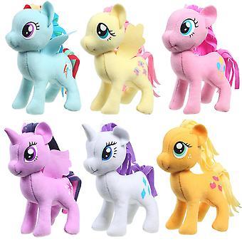 6-Pack Mini My Little Pony 13cm Gosedjur Rainbow Dash Rarity Applejack mm