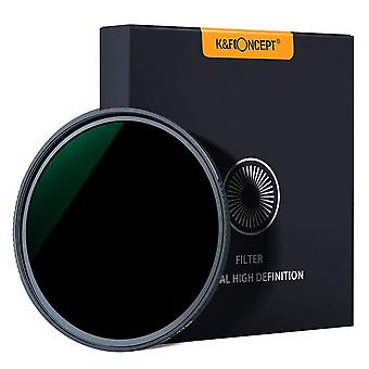 K&f concept 77mm fixed nd filter nd1000 10 stops, neutral density lens filter multi-coated optical g