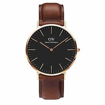 Hombres's Daniel Wellington Clásico Negro St Mawes Reloj 40mm Reloj DW00100124