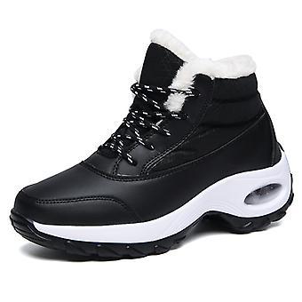 Chaussures doublées de fourrure Femmes Bottes de neige A99 Noir