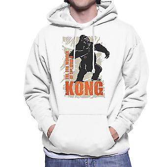 King Kong rugiendo la 8a maravilla del mundo hombres's sudadera con capucha