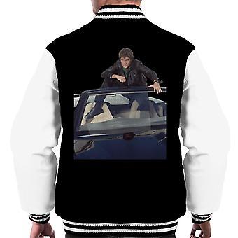 Knight Rider Michael Knight Sentado en KITT Hombres's Chaqueta Varsity