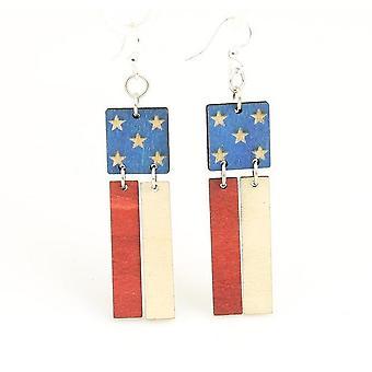 Brincos de bandeira americana