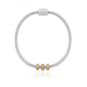Joma Jewellery Halo Silver Gold Venetian Chain Charm Bracelet 4050