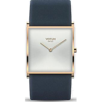 VOTUM - Reloj de señora - SQARE - Puro - V02.20.10.02 - correa de cuero - azul