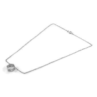 ANCHOR & CREW Lane Hexagonal Mini Geometric Silver Necklace Pendant