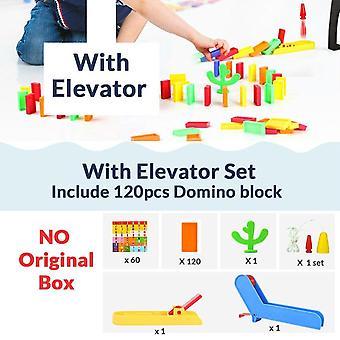 120pcs Elevator Springboard Bridge Catapult Dominoes Blocks Set