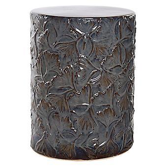 Boční stůl Dekodonia Ginkgo Zelený modrý stoneware (34 x 34 x 45 cm)