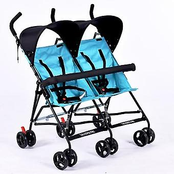 Twin Baby Stroller Ultra Light Portable Small Folding Umbrella Double Cart