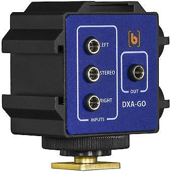 Adaptateur/support personnalisé à deux canaux Beachtek dxa-go pour récepteur sans fil à accès fil