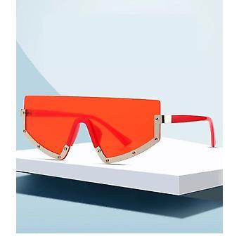 Sportieve zonnebril dame koele bogen rechte metalen waterdichte rood