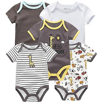 Short Sleeves, Cotton Rompers For Newborn Baby (set-1)