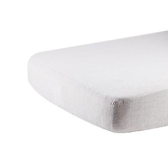 Hoja de cuna muslina de algodón gris herringbone
