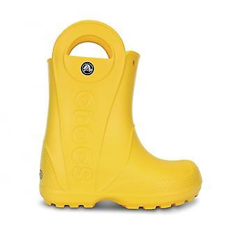 Crocs 12803 Handle It Rain Boot Kinder Wellington Stiefel Gelb