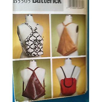 Butterick نمط الخياطة 5505 حقائب الظهر اكسسوارات الأزياء حجم واحد غير المصقول