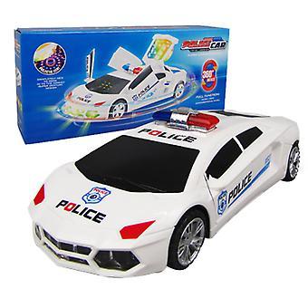 الكهربائية العالمية للأطفال & ق لعبة الموسيقى مضيئة 360¡ã الدورية نموذج محاكاة سيارة الشرطة تشوه