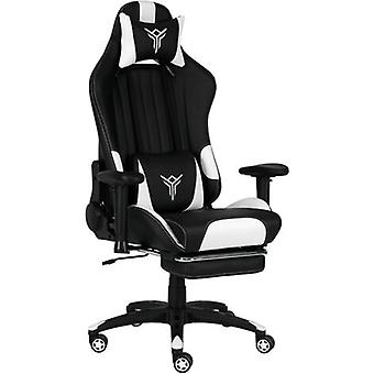 Ergonomic Pu Leather Gaming Chair With Footrest & Headrest