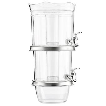 Double Beverage Dispenser with Ice Container