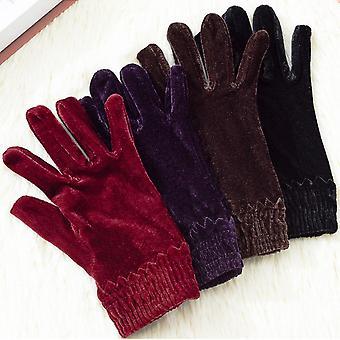 Мода Показать Упругие вождение женские перчатки