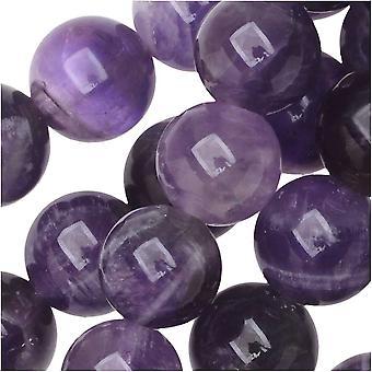 Dakota Stones Gemstone Beads, Dog Teeth Amethyst, Round 8mm, 8 Inch Strand