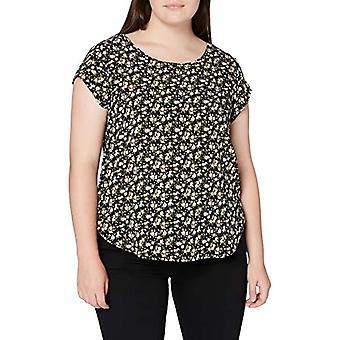 Only ONLVIC SS AOP Top Noos Wvn T-Shirt, Schwarz, 34 Damen