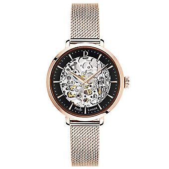 Pierre Lannier Naisten automaattinen analoginen kello massiivisella ruostumattomasta teräksestä valmistetulla hihnalla 313B938