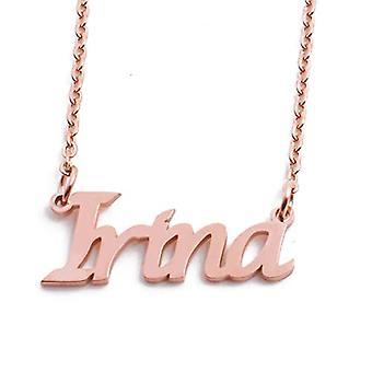 KL Kigu Irina - Kvinders halskæde med tilpasselig navn, moderigtige smykker, gave til kæreste, mor, søster