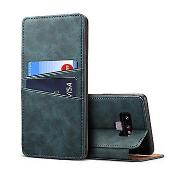 Slot per la custodia in pelle portafoglio per samsung note9 blu pc3906
