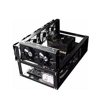 في الهواء الطلق التعدين التعدين الإطار حالة تلاعب تصل إلى 6 غبو لعملة بيتكوين التشفير