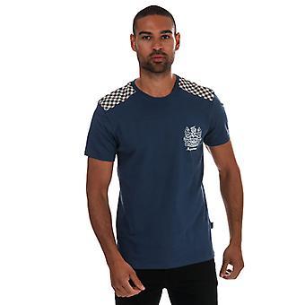 Men's Aquascutum Taped T-Shirt in Blue
