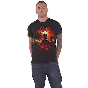Deicide T Shirt To Hell With God Band Logo new Official Mens Black
