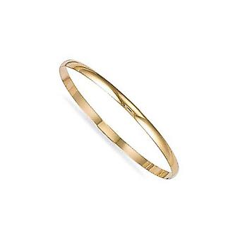 Jewelco London Ladies Solid 9ct Yellow Gold D-Shape 4mm Bransoletka bransoletka
