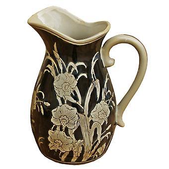 Ceramiczny wytłaczany wazon w stylu dzbanka, królewski design