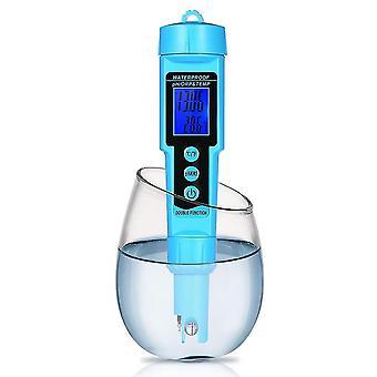 3 En 1 ph/orp/tempmètre détecteur d'eau multi-fonction moniteur de qualité testeur