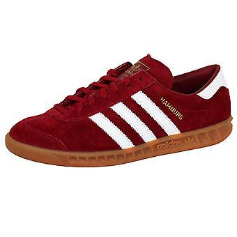 Adidas originals men's team victory red hamburg trainers