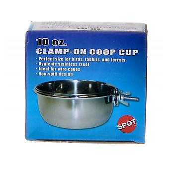 Spot Stainless Steel Coop Cup with Bolt Clamp - 10 oz