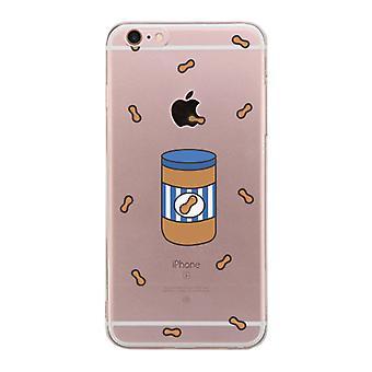 Apple iPhone 6 6S Plus transparante Matching Phone Cover (gemaakt voor-pindakaas)