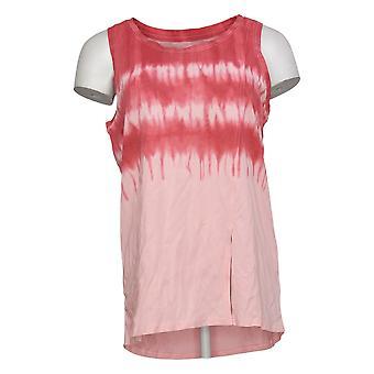 Modern Soul Women's Printed Sleeveles Scoop Neck Tank Top Pink 689511