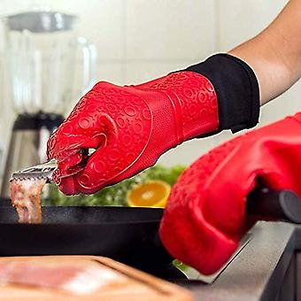 Cooking Heat-resistant Kitchen Gloves Silicone Oven Gloves