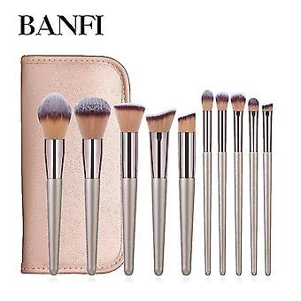 Makeup brushes 10pcs makeup brushes set cosmetic brushes set make up tool kit foundation|eye shadow applicator