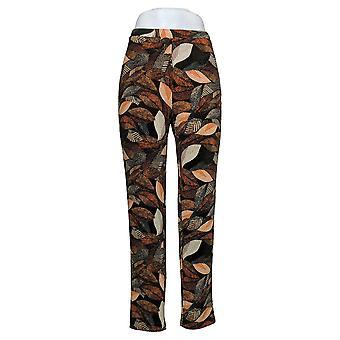 Antthony Women's Pants Printed Pull-On Orange 716564
