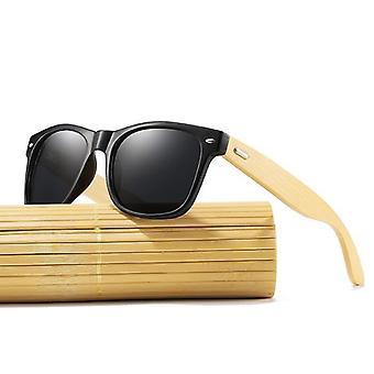 Män Ljusa Bambu Solglasögon